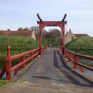 Kanalbron vid fästningen Bourtange