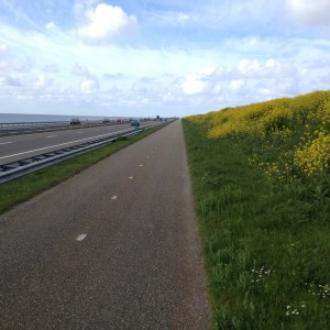 Afsluitdijk- 30 km vall över Nordsjön
