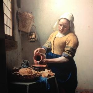 The milkmaid från 1657-1658. En av Vermeers mest kända mästerverk