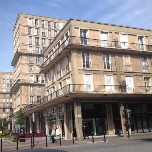 Klassisk betongarkitektur i Le Havre