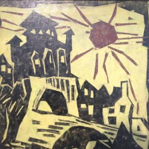 Lyonel Feininger. Porte de ville 1943