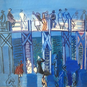 Raoul Dufy. The beach and the pier in Le Havre 1926